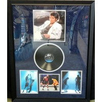 Michael Jackson & Michael Jordan Signed Framed Thriller LP UDA PSA Authenticated
