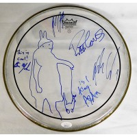 Matchbox 20 Rob Thomas and Group Signed Remo 12 inch Drumhead JSA Authenticated