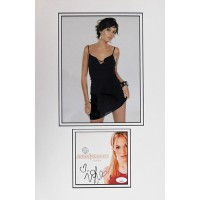 Mandy Moore Singer Signed Candy CD Cover Matted with Photo JSA Authenticated