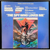 Roger Moore Signed The Spy Who Loved Me Record LP Album JSA Authenticated