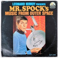 Leonard Nimoy Mr. Spock's Music From Outer Space Signed Record LP Album JSA Authenticated