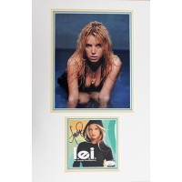 Jessica Simpson Singer Signed LEI CD Cover Matted with Photo JSA Authenticated