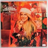 Meghan Trainor Signed A Very Trainor Christmas LP Album Sleeve JSA Authenticated