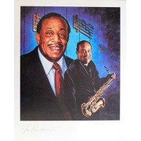 Lou Donaldson Jazz Musician Signed LE 16x20 Ron Lewis Lithograph JSA Authenticated