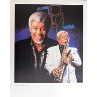 Frank Foster Jazz Musician Signed LE 16x20 Ron Lewis Lithograph JSA Authenticated
