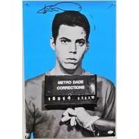 Steve-O Jackass Signed 23.5x15.5 Mugshot Poster JSA Authenticated
