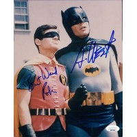 Batman Adam West and Burt Ward Signed 8x10 Glossy Photo JSA Authenticated