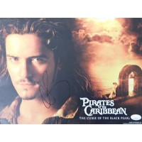 Orlando Bloom Pirates of the Caribbean Signed 11x14 Lobby Card JSA Authenticated