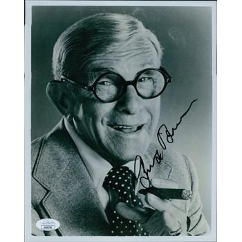 George Burns Actor Comedian Signed 8x10 Glossy Photo JSA Authenticated