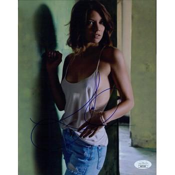 Lauren Cohan The Walking Dead Actress Signed 8x10 Matte Photo JSA Authenticated