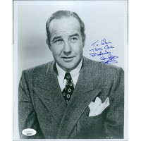 Broderick Crawford TV Actor Signed 8x10 Glossy Photo JSA Authenticated