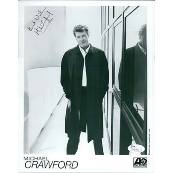 Michael Crawford Signed 8x10 Black And White Glossy Photo JSA Authenticated
