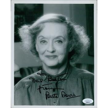 Bette Davis Actress Signed 8x10 Card Stock Photo JSA Authenticated