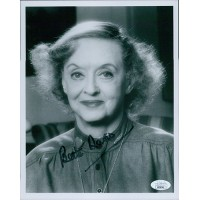 Bette Davis Actress Signed 8x10 Card Stock Photo JSA Authenticated