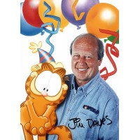 Jim Davis Signed 5x7 Garfield Color Promo Photo JSA Authenticated #AA28098