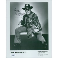 Bo Diddley Musician Signed 8x10 Glossy Promo Photo JSA Authenticated