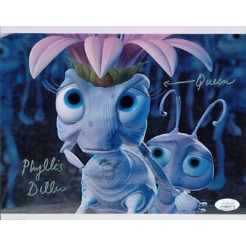 Phyllis Diller Signed A Bugs Life 8x10 Glossy Photo JSA Authenticated
