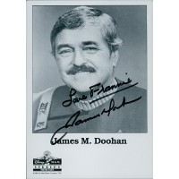 James Doohan Star Trek Signed Personalized 5x7 B&W Promo Photo JSA Authenticated