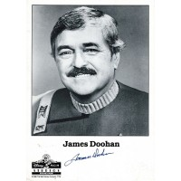 James Doohan Star Trek Signed 5x7 B&W Promo Photo JSA Authenticated