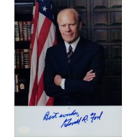 Gerald R. Ford President Signed 8x10 Photo Page JSA Authenticated