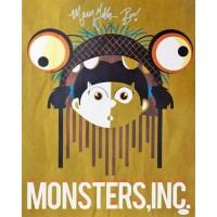 Mary Gibbs Signed Monsters, Inc. Boo 16x20 Matte Color Photo JSA Authenticated