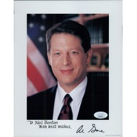 Al Gore Vice President Signed 8x10 Card Stock Promo Photo JSA Authenticated