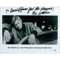 Bo Hopkins American Graffiti Signed 8x10 Glossy Photo JSA Authenticated