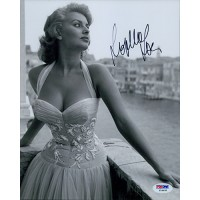 Sophia Loren Signed 8x10 Glossy Photo PSA/DNA Authenticated