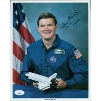 Bruce E. Melnick Astronaut Signed 8x10 Card Stock Promo Photo JSA Authenticated