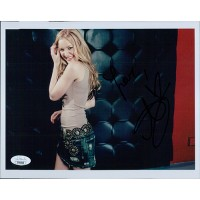 Amanda AJ Michalka Singer Actress Signed 8x10 Matte Photo JSA Authenticated