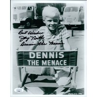 Jay North Dennis The Menace Signed 8x10 Glossy Photo JSA Authenticated
