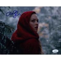 Amanda Seyfried Red Riding Hood Signed 8x10 Matte Photo JSA Authenticated