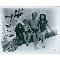 Johnny Sheffield Tarzan Boy Signed 8x10 Glossy Photo JSA Authenticated
