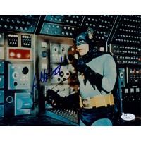 Adam West Signed (TV's) Batman 8x10 Vintage Color Photo JSA Authenticated