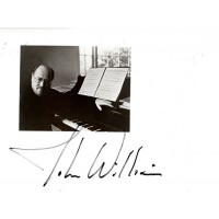 John Williams Composer Signed 5x7 Black and White Photo JSA Authenticated