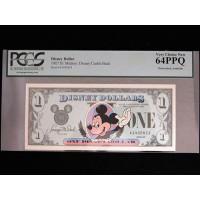Mickey Disney Dollar 1989 $1 A Series Disney Castle Back PCGS 63PPQ Very Choice