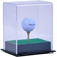 Deluxe Golf Ball Display Case with Tee