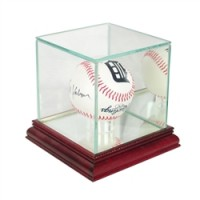 Deluxe real glass single baseball display