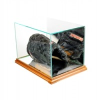 Deluxe real glass full size baseball glove rectangle display