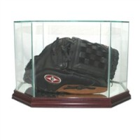 Deluxe real glass full size baseball glove octagon display