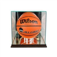 Deluxe real glass full size basketball display