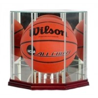 Deluxe real glass full size basketball octagon display