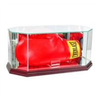 Deluxe real glass full size horizontal boxing glove octagon display