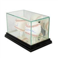 Deluxe real glass double baseball display
