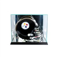 Deluxe real glass full size helmet rectangle display