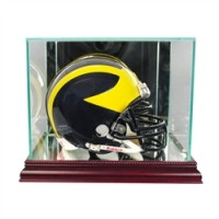 Deluxe real glass mini helmet display