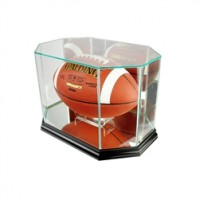 Deluxe real glass full size football octagon display