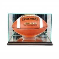 Deluxe real glass full size football rectangle display