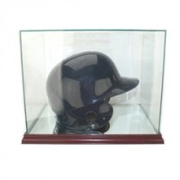 Deluxe real glass full size baseball helmet rectangle display