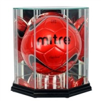 Deluxe real glass soccer ball display